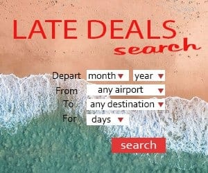 Tui Late deals holiday search